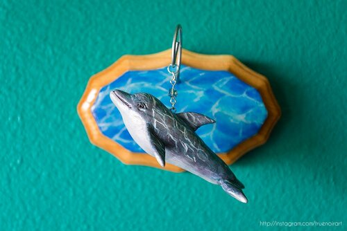 Dolphin wall sculpture by Oksana Ossipov. Mixed media, 2018.