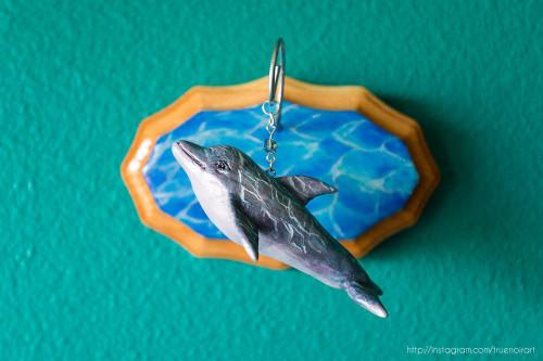 Dolphin wall sculpture by Oksana Ossipov. Mixed media, 2018.