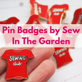 Enamel Pin Badges by Sew In The Garden Now In Stock!
