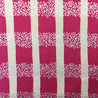 Field Berry from the Echino collection by Kokka. Japanese Cotton/Linen Canvas with silver metallic detail.