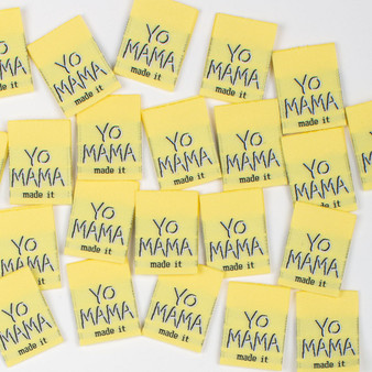 """Yo Mama Made It"" Sew-In Tab Label (Pack of 8) By Kylie and The Machine"