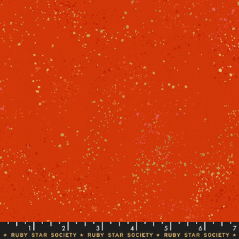 Metallic Warm Red from the Speckled collection by Ruby Star Society. 100% Lightweight Cotton
