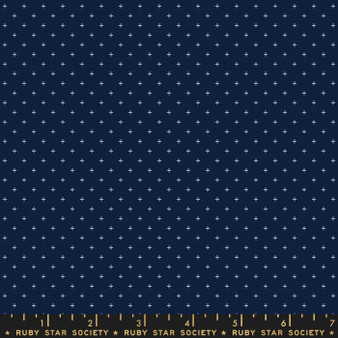 Navy from the Add It Up collection by Ruby Star Society. 100% Lightweight Cotton