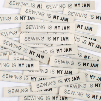 """Sewing Is My Jam"" Sew-In Clothes Label (Pack of 8) By Kylie and The Machine"