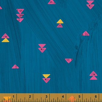 Floating Triangles Peacock from the Wish collection by Windham Fabrics. 100% Cotton Fabric