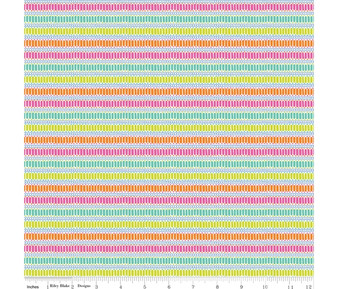 Stripes Multi from the Under the Canopy collection by Riley Blake Designs. 100% Medium Weight Cotton