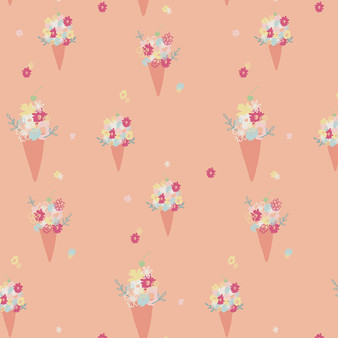 Blooming Ice Cream from the Daydream collection by Art Gallery Fabrics. 100% OEKO-TEX Certified Standard Cotton Fabric