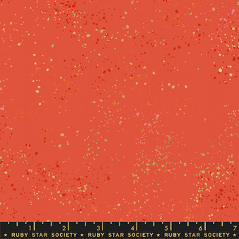 Metallic Festive from the Speckled collection by Ruby Star Society. 100% Lightweight Cotton