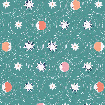 Joyful Night Jade from the Celeste collection by Dashwood Studio. 100% Cotton Fabric