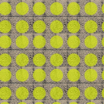 Circles Lime from the Indian Summer Collection by PBS Fabrics. 100% Cotton Fabric