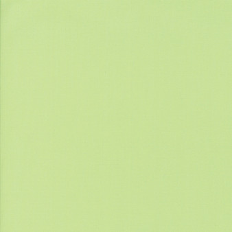 Green Tea from the Bella Solids collection by Moda Fabrics. 100% Medium Weight Quilting Cotton.