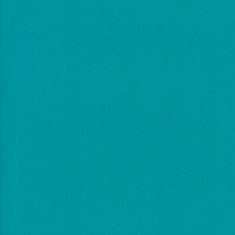 Turquoise from the Bella Solids collection by Moda Fabrics. 100% Medium Weight Quilting Cotton.