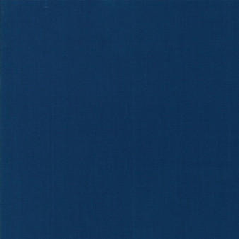 Prussian Blue from the Bella Solids collection by Moda Fabrics. 100% Medium Weight Quilting Cotton.