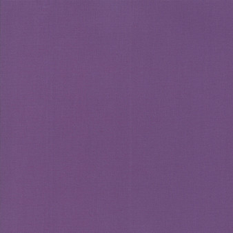 Aubergine from the Bella Solids collection by Moda Fabrics. 100% Medium Weight Quilting Cotton.