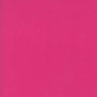 Magenta from the Bella Solids collection by Moda Fabrics. 100% Medium Weight Quilting Cotton.