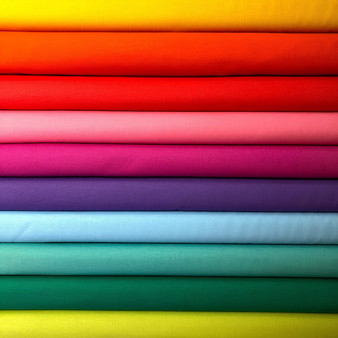Rainbow Bella Solids Fat Quarter Bundle - 10 Fabrics