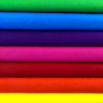 Bold Rainbow Bella Solids Fat Quarter Bundle - 7 Fabrics