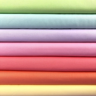 Pastel Rainbow Bella Solids Fat Quarter Bundle - 7 Fabrics