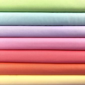 Pastel Rainbow Bella Solids Fat Quarter Bundle - 7 Fabrics