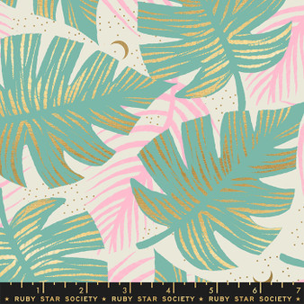 Shade Palms Water from the Florida collection by Ruby Star Society. 100% Lightweight Cotton