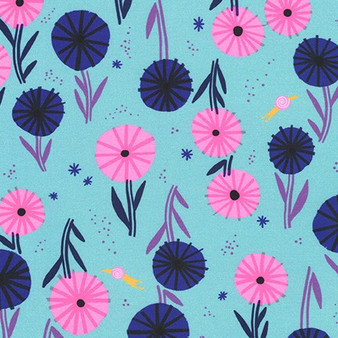 Flowers Pond AILD-20163-56 from the Escargot For It! collection designed by Hello!Lucky for Robert Kaufman. 100% Cotton Fabric