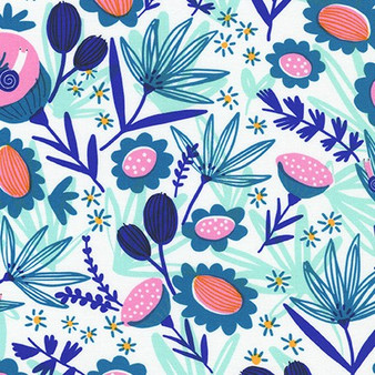 Meadow Spring AILD-20162-192 from the Escargot For It! collection designed by Hello!Lucky for Robert Kaufman. 100% Cotton Fabric