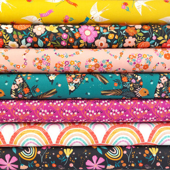 Good Vibes Fat Quarter Bundle by Dashwood Studio. 100% Cotton Fabric