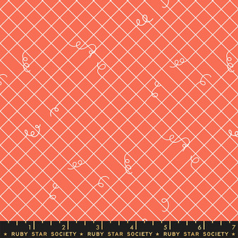 Broken Ties Tangerine Dream from the Adorn collection by Ruby Star Society. 100% Lightweight Cotton