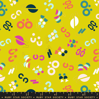 Ornaments Citron from the Adorn collection by Ruby Star Society. 100% Lightweight Cotton