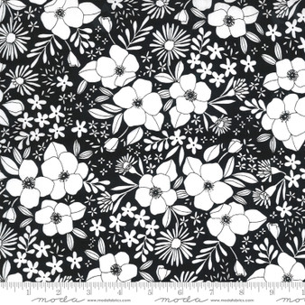 Wild Florals Ink from the Illustrations collection by Moda Fabrics. 100% Medium Weight Quilting Cotton.