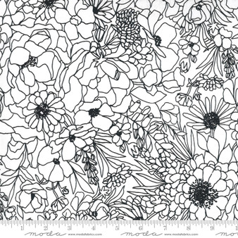 Modern Florals Paper from the Illustrations collection by Moda Fabrics. 100% Medium Weight Quilting Cotton.