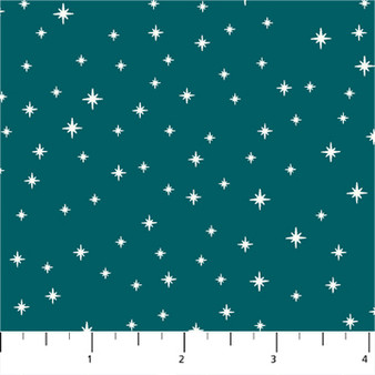 Twinkle Teal from the Peppermint collection by Figo Fabrics. 100% Cotton Fabric