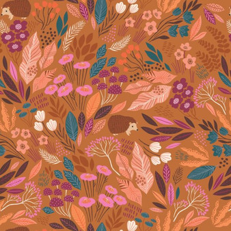 Hedgerow Rust from the Wild collection by Dashwood Studio. 100% Cotton Fabric