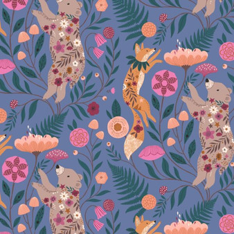 Dancing Blue from the Wild collection by Dashwood Studio. 100% Cotton Fabric