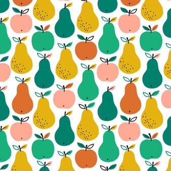 Fruit Multi from the Acorn Wood collection by Dashwood Studio. 100% Cotton Fabric