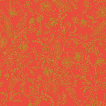 Colette Red from the Holiday Classics collection by Rifle Paper Co. 100% Medium Weight Cotton