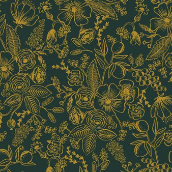 Colette Evergreen from the Holiday Classics collection by Rifle Paper Co. 100% Medium Weight Cotton