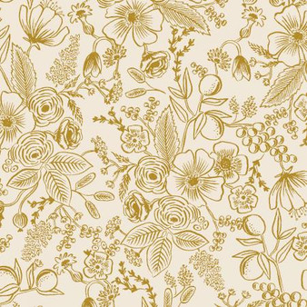 Colette Cream from the Holiday Classics collection by Rifle Paper Co. 100% Medium Weight Cotton