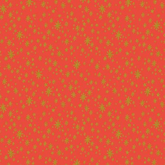 Starry Night Red from the Holiday Classics collection by Rifle Paper Co. 100% Medium Weight Cotton