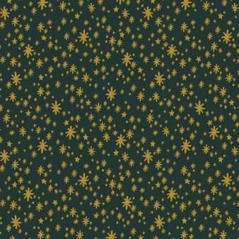 Starry Night Evergreen from the Holiday Classics collection by Rifle Paper Co. 100% Medium Weight Cotton