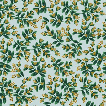 Mistletoe Mint from the Holiday Classics collection by Rifle Paper Co. 100% Medium Weight Cotton
