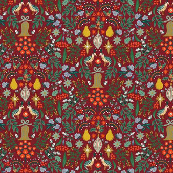 Partridge Berry from the Holiday Classics collection by Rifle Paper Co. 100% Medium Weight Cotton