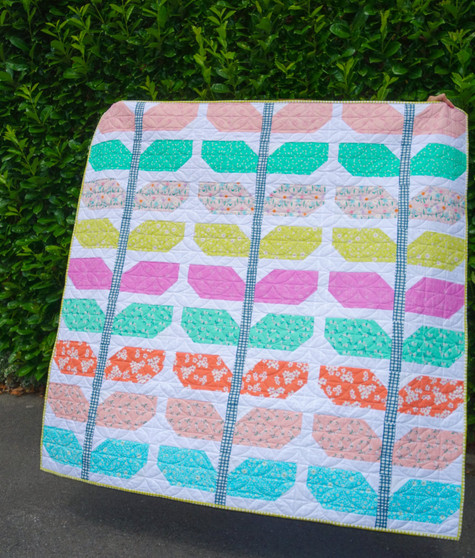 Sprout Quilt Pattern by Lou Orth Designs Finished Look