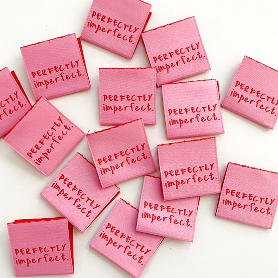"""""""Perfectly Imperfect"""" Sew-In Tab Label (Pack of 8) By Kylie and The Machine"""