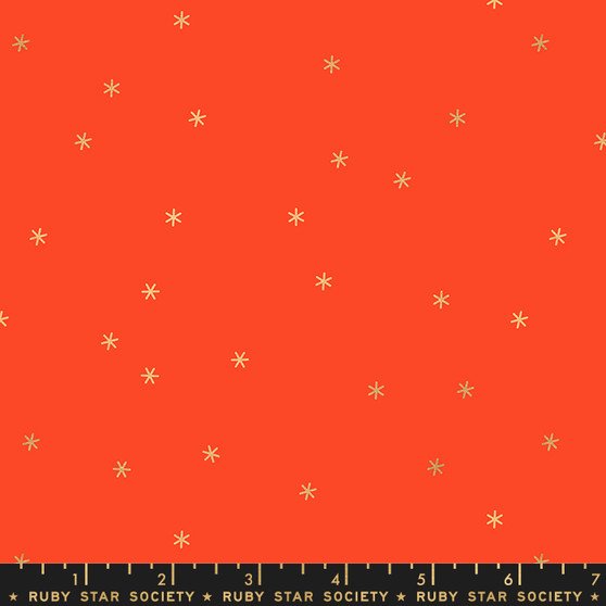 Metallic Roadster Red from the Spark collection by Ruby Star Society. 100% Lightweight Cotton