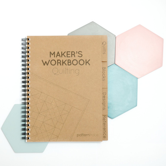 Maker's Workbook Quilting Journal by Patterntrace