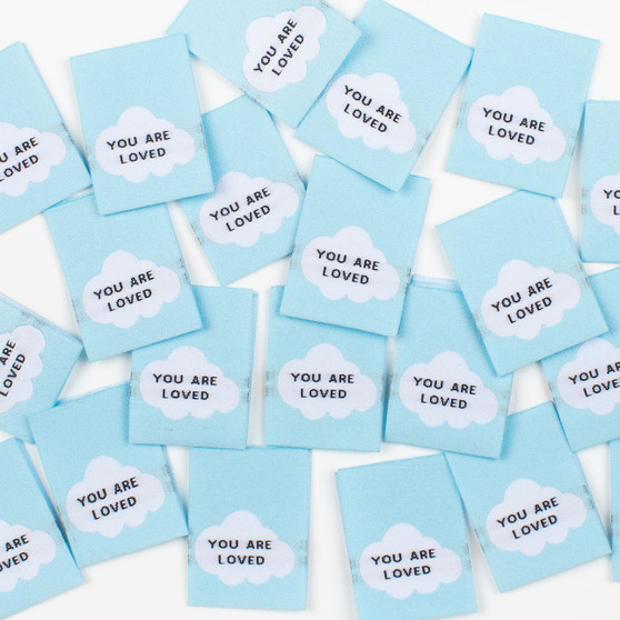 """""""You Are Loved"""" Sew-In Clothes Label (Pack of 8) By Kylie and The Machine"""