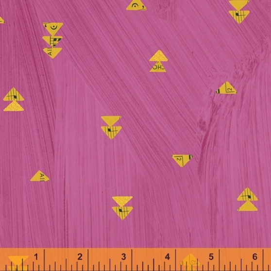 Floating Triangles Hot Pink from the Wish collection by Windham Fabrics. 100% Cotton Fabric