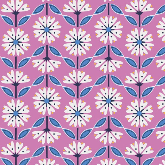 Flowers Pink from the Lost Treasures collection by Dashwood Studio. 100% Cotton Fabric