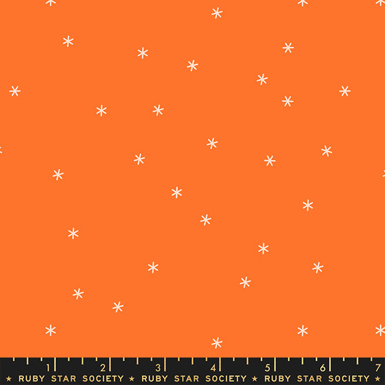 Orange from the Spark collection by Ruby Star Society. 100% Lightweight Cotton